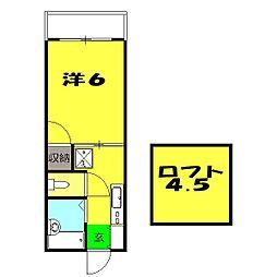 フラッツ横浜3[201号室]の間取り
