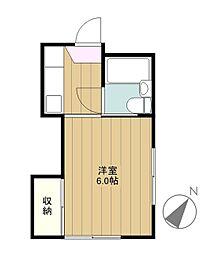 東京都多摩市聖ヶ丘1丁目の賃貸マンションの間取り
