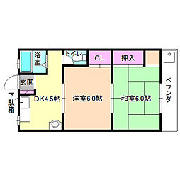 福田マンション[2階]の間取り