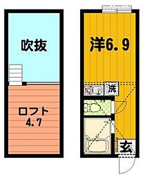 G・Aタウン川崎・小倉[2階]の間取り