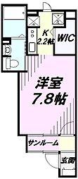 埼玉県狭山市柏原の賃貸アパートの間取り