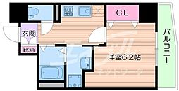 Osaka Metro谷町線 天満橋駅 徒歩5分の賃貸マンション 8階1Kの間取り