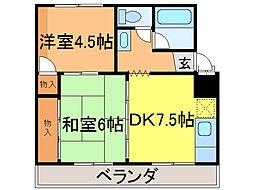 倉井マンション[302号室]の間取り