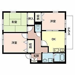 ハイマート金川C棟[1階]の間取り
