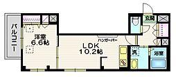(仮称)富士見台4丁目HBS計画 2階1LDKの間取り