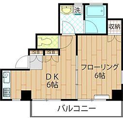 ルミエール早稲田[4階]の間取り