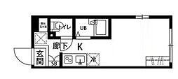 プラティーク高井戸[4階]の間取り