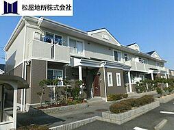 愛知県豊橋市大岩町字黒下の賃貸アパートの外観