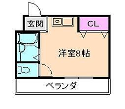 大阪府豊中市庄内栄町3丁目の賃貸マンションの間取り