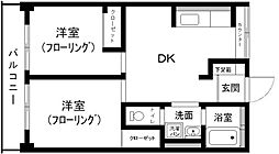 第1コーポ舞鶴ビル[715号室]の間取り