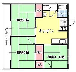 大島ビル[206号室]の間取り