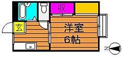 コーポ吉備路 B[1階]の間取り