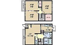 [テラスハウス] 大阪府堺市中区大野芝町 の賃貸【/】の間取り