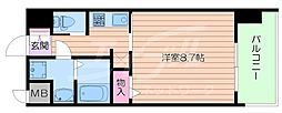 Osaka Metro長堀鶴見緑地線 蒲生四丁目駅 徒歩5分の賃貸マンション 5階1Kの間取り