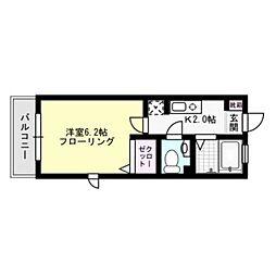 メゾントランキルやよい[2階]の間取り