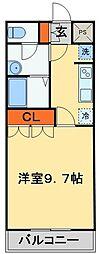 JR常磐線 天王台駅 徒歩13分の賃貸アパート 1階1Kの間取り