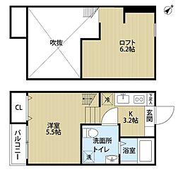 CASA VIVACE 町田(カーサヴィヴァーチェマチダ)[2階]の間取り