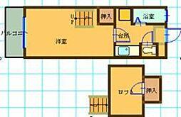 シャトレ隈I[202号室]の間取り