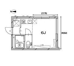 Apartment KURO武蔵小山II[2階]の間取り