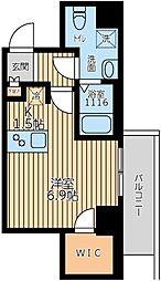 ARKMARK上北沢 5階ワンルームの間取り