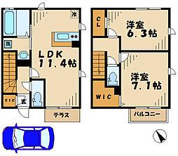 [テラスハウス] 神奈川県川崎市麻生区片平3丁目 の賃貸【/】の間取り