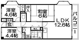 ミーテ・パラッツォ[3階]の間取り
