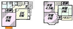 [一戸建] 埼玉県所沢市若狭3丁目 の賃貸【/】の間取り