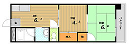 コーポサンルーツII[4階]の間取り