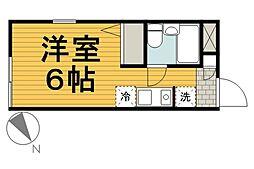 ガーデンハイツ新横浜[201号室]の間取り