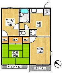 シティコートII[2階]の間取り