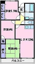 ラフィーネ壱番館[3階]の間取り