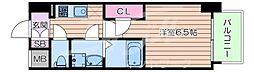 JR東海道・山陽本線 岸辺駅 徒歩4分の賃貸マンション 5階1Kの間取り