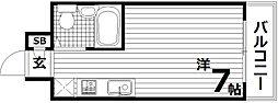 ベル東須磨[4階]の間取り