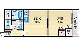 ドエルパークサイド 2階1LDKの間取り