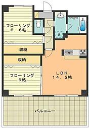 KTD・昭島 3階2LDKの間取り