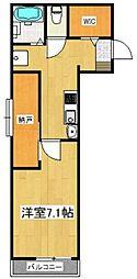 JR武蔵野線 三郷駅 徒歩7分の賃貸アパート 1階1SKの間取り