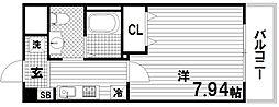 ラフォンテ神戸長田[8階]の間取り
