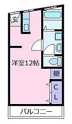 ドムール松原[2階]の間取り
