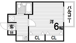 レディース10miko(トミコ)[3階]の間取り