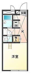 レオパレス新桜[1階]の間取り