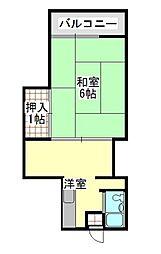 上石神井第2フラッツ[2階]の間取り
