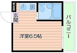 エステート都島[4階]の間取り