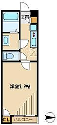 レオネクスト王禅寺 1階1Kの間取り