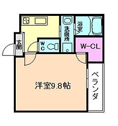 フジパレス塚本II番館[2階]の間取り