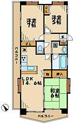 東京都多摩市落合6丁目の賃貸マンションの間取り