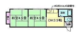 草野マンション6号館[3階]の間取り