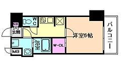 W-STYLE難波[9階]の間取り