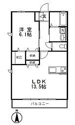 ディアコート I[2階]の間取り