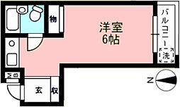 エール久我山[206号室]の間取り
