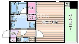 大阪府大阪市北区中之島4丁目の賃貸マンションの間取り